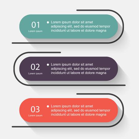 Vector informazioni colorata grafica per presentazioni aziendali. Può essere usato per informazioni la grafica, layout grafico o al sito web vettoriale, numerati banner, schema, linee di ritaglio orizzontali, web design.
