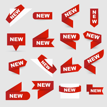 New signs Isolated vector illustration.