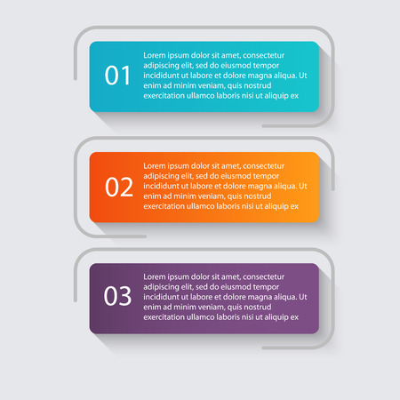 graphic elements: Vector colorful info graphics for your business presentations.