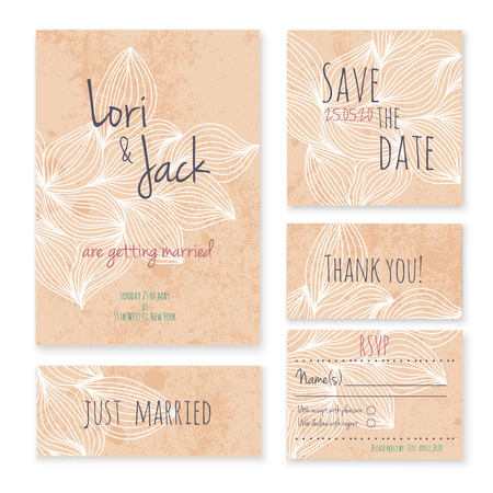 invitation card: Wedding invitation card set.