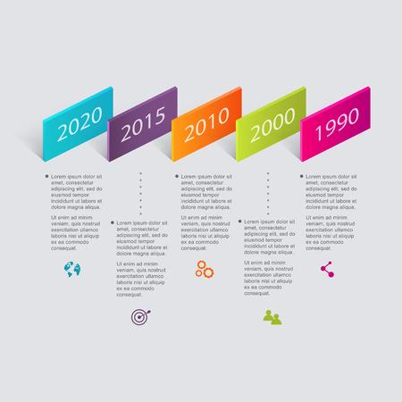 grafica de barras: Plantillas de Diseño de Infografía de línea de tiempo.