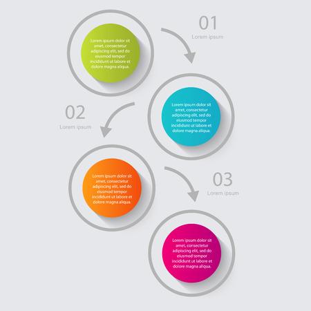 graficas: Vector colorido infografías para sus presentaciones. Vectores
