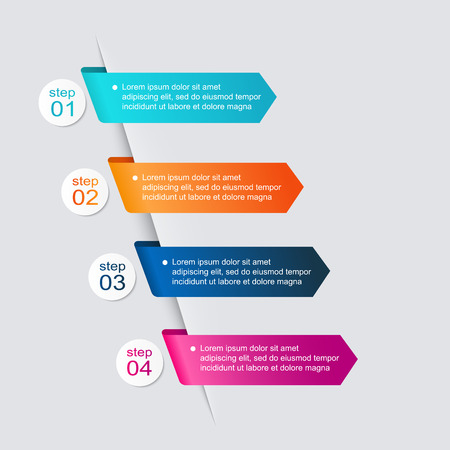 business graphics: Vector colorful info graphics for your business presentations.