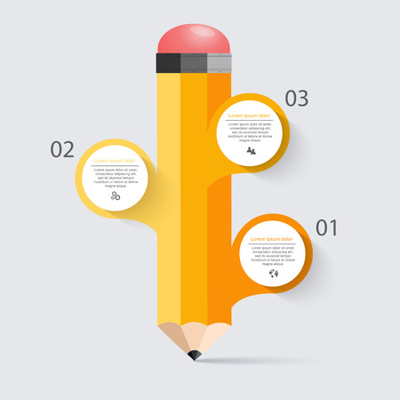 business education: Business education pencil staircase Infographics option.