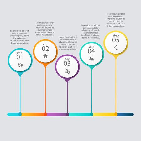 grafiken: Vector bunte Info-Grafiken für Ihre Business-Präsentationen. Illustration