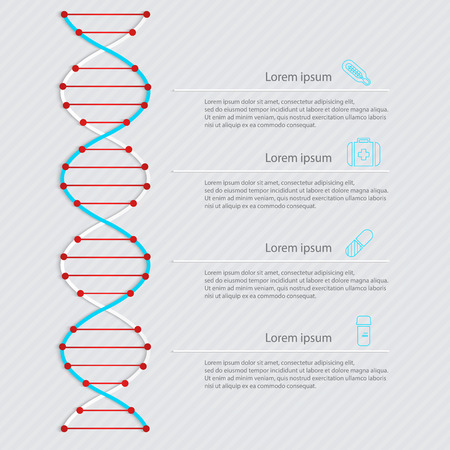 blending: DNA banner, science infographics. Illustration contains transparency and blending effects.