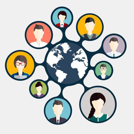 Social Networking en Social Media avatar Concept.