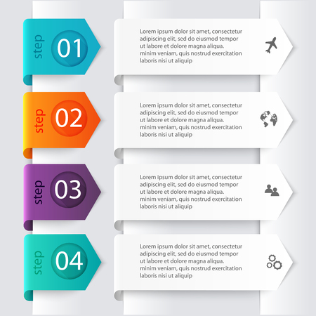 representations: Vector colorful info graphics for your business presentations. Can be used for info graphics, graphic or website layout vector, numbered banners, diagram, horizontal cutout lines, web design.