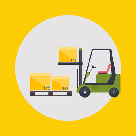 supply chain: Warehouse icons logistic blank and transportation, storage vector illustration.