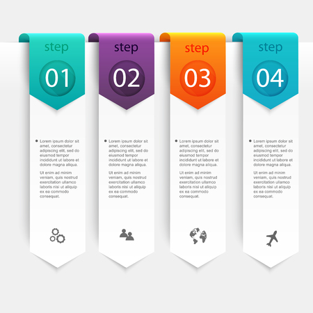 schedule: Abstract 3D digital illustration Infographic. Vector illustration can be used for workflow layout, diagram, number options, web design. Illustration