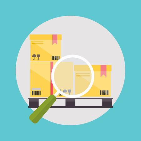 checklist: Warehouse icons logistic blank and transportation, storage vector illustration.