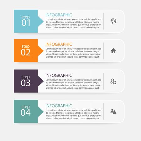 infografica: Vector informazioni colorata grafica per presentazioni aziendali. Può essere usato per informazioni la grafica, layout grafico o al sito web vettoriale, numerati banner, schema, linee di ritaglio orizzontali, web design.