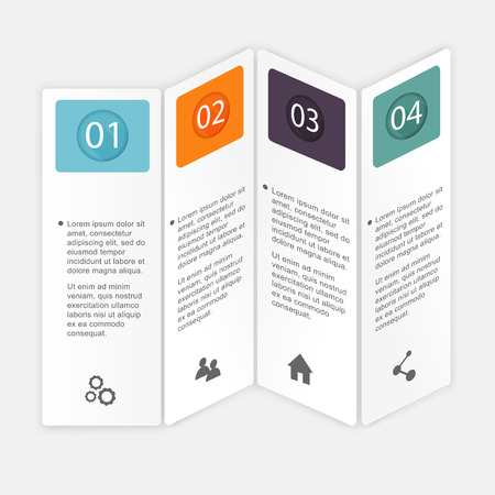 first steps: Vector colorful info graphics for your business presentations. Can be used for info graphics, graphic or website layout vector, numbered banners, diagram, horizontal cutout lines, web design.