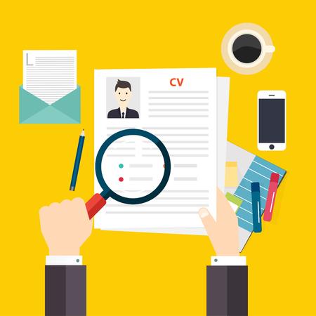 hoja de vida: CV curriculum vitae. Concepto de entrevista de trabajo. Escribir un curriculum vitae.