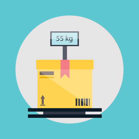 measuring: Warehouse icons logistic blank and transportation, storage vector illustration.
