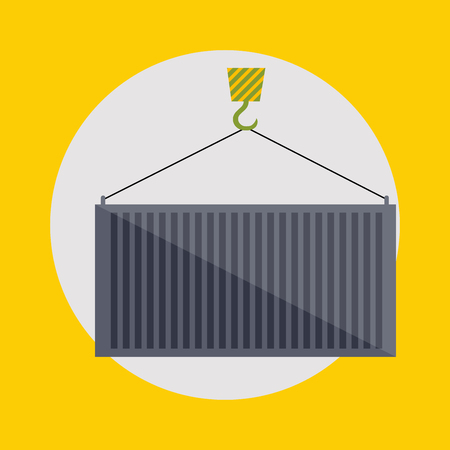 bulk carrier: Warehouse icons logistic blank and transportation, storage vector illustration.