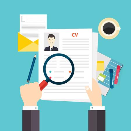 CV resume. Job interview concept. Writing a resume.