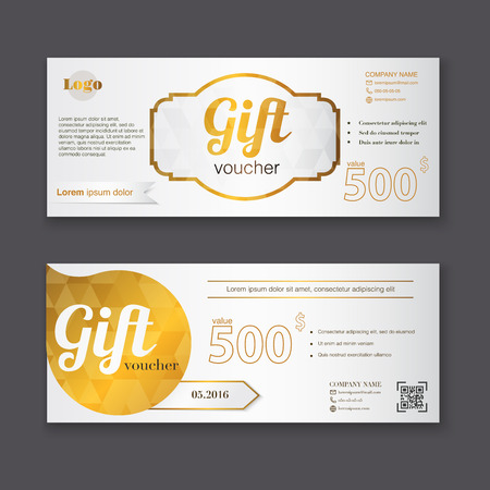 Gift voucher template with gold pattern gift certificate gift voucher template with gold pattern gift certificate background design gift coupon voucher yadclub Gallery