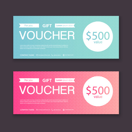 Gift Voucher Template With Colorful Pattern, Gift Certificate ...