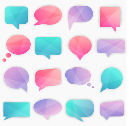 decoration objects: Speech bubbles set