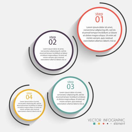 grafik: Vector bunte Info-Grafiken für Ihre Business-Präsentationen. Kann für Infografiken, Grafik oder Layout der Website Vektor, nummeriert Banner, Diagramm, horizontal Ausschnitt Linien, Web-Design verwendet werden. Illustration
