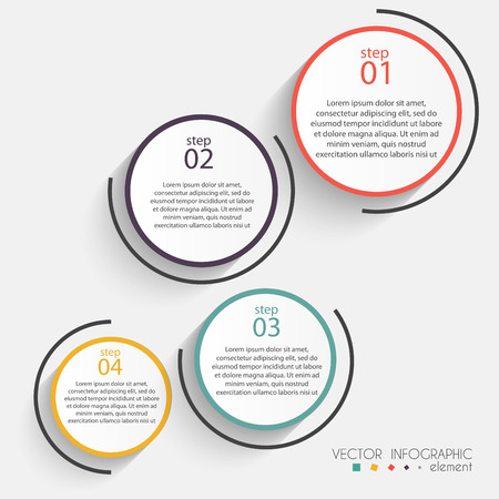 info graphic: Vector colorful info graphics for your business presentations. Can be used for info graphics, graphic or website layout vector, numbered banners, diagram, horizontal cutout lines, web design.