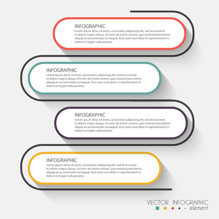 graphic: Vector colorful info graphics for your business presentations. Can be used for info graphics, graphic or website layout vector, numbered banners, diagram, horizontal cutout lines, web design.
