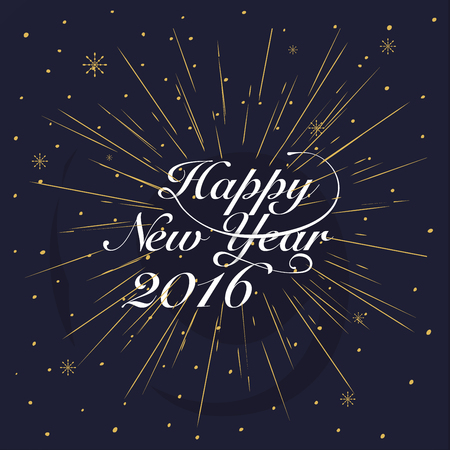 book background: New year 2016 Greeting Card. Typography postcard template. Vector illustration.