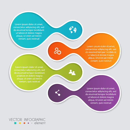 graphic illustration: Vector colorful info graphics for your business presentations. Can be used for info graphics, graphic or website layout vector, numbered banners, diagram, horizontal cutout lines, web design.