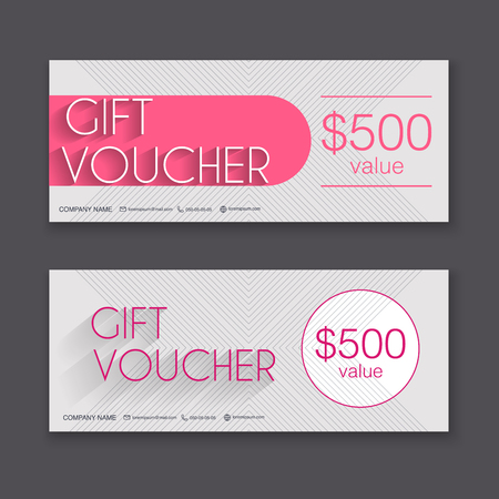 Gift voucher template with rose gold gift background gift gift voucher template with colorful pattern gift certificate background design gift coupon voucher yadclub Images