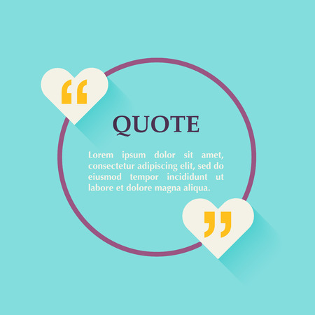 citing: Quote blank template. Design elements, circle business card template, paper sheet, information, text. Quote template for your design.