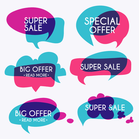 house clearance: Set of sale banners design. Sale paper banner. Sale and discounts. Super Sale and special offer. Sale shopping background and label for business promotion. Vector illustration.