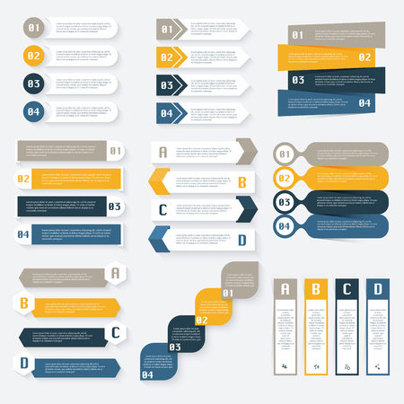 sections: Set of infographics design template for your business presentations.Can be used for info graphics, graphic or website layout , numbered , diagram,  web design.