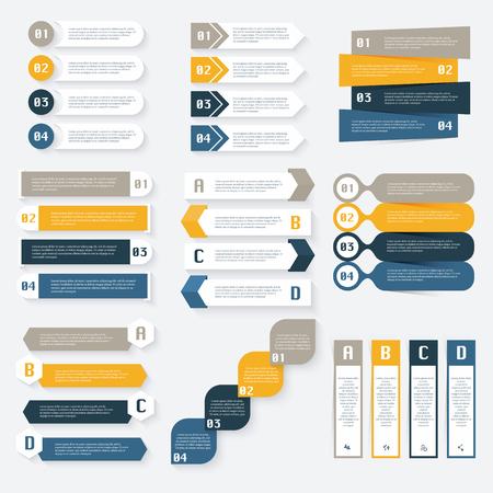 grafik: Set von Infografiken Design-Vorlage für Ihr Unternehmen presentations.Can für Info-Grafiken, grafische Elemente oder Website-Layout, nummeriert, Diagramm, Web-Design verwendet werden.