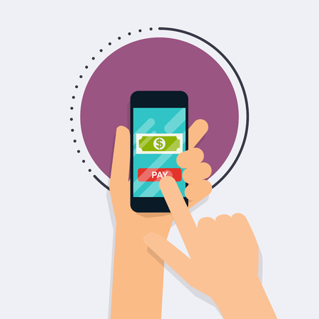 bank transfer: Flat design vector illustration concepts of online payment methods. Internet banking, online purchasing and transaction, electronic funds transfers and bank wire transfer.