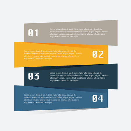 business graphics: Vector colorful info graphics for your business presentations. Can be used for info graphics, graphic or website layout vector, numbered banners, diagram, horizontal cutout lines, web design.