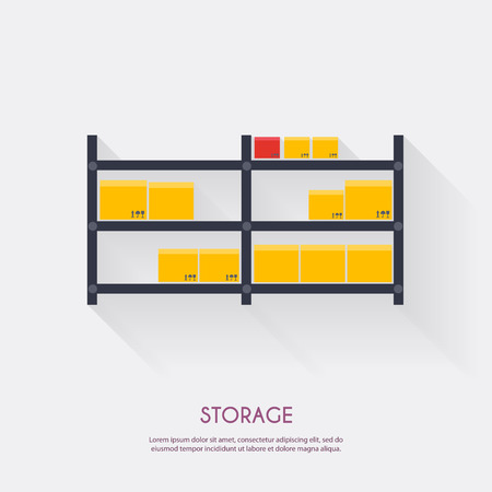 racking: Storage. Warehouse icons logistic blank and transportation, storage vector illustration.