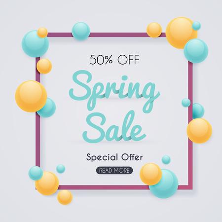 Spring Sale Banner. Reklamní fotografie - 55550474