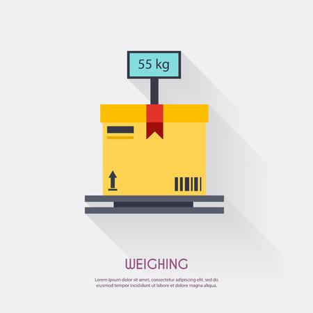carga: Peso. iconos almacén logístico ilustración en blanco y el transporte, el almacenamiento de vectores. Vectores