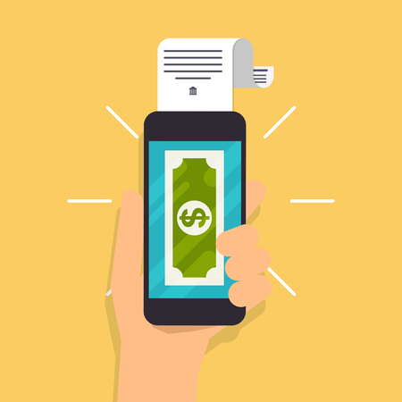 internet banking: Flat design illustration concepts of online payment methods. Internet banking, online purchasing and transaction, electronic funds transfers and bank wire transfer.
