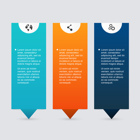 text box: Vector colorful info graphics for your business presentations. Can be used for info graphics, graphic or website layout vector, numbered banners, diagram, horizontal cutout lines, web design.