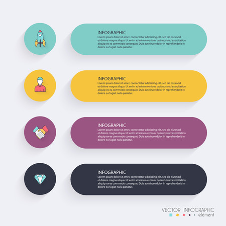 Infographic Templates for Business. Can be used for website layout vector, numbered banners, diagram. Vector Illustration