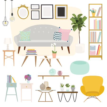 armchairs: Living room. Furniture and Home Accessories, including sofas, love seat, armchairs, coffee table, side tables and home decoration.
