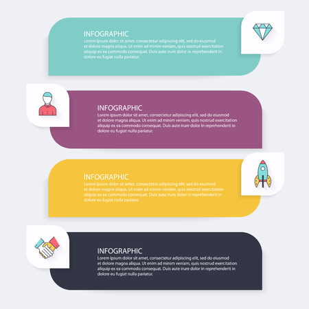Infographic templates for business can be used for website layout infographic templates for business can be used for website layout vector numbered banners ccuart Choice Image