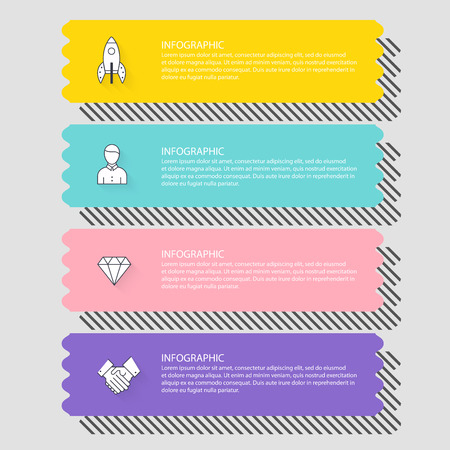 Infographic Templates for Business. Can be used for website layout vector, numbered banners, diagram.