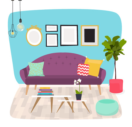 chest wall: Living room. Furniture and Home Accessories, including sofas, love seat, armchairs, coffee table, side tables and home decoration.
