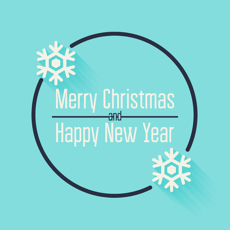 open type font: Merry Christmas and Happy New Year Greeting Card. Quote blank template.
