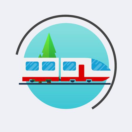 Modern train icon. Vector travel concept background. Flat design modern illustration.