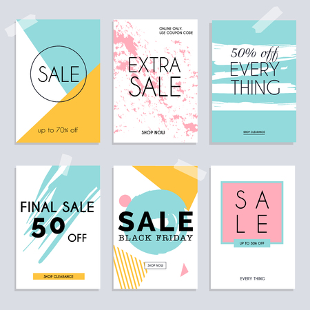 mobile website: Sale website banners web template collection. Can be used for mobile website banners, web design, posters, email and newsletter designs.