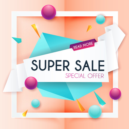 selling off: Sale banners design, discounts and special offer. Shopping background, label for business promotion. Vector illustration.